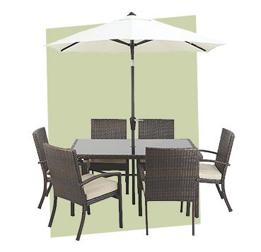 Soak up the sun with a stylish patio set