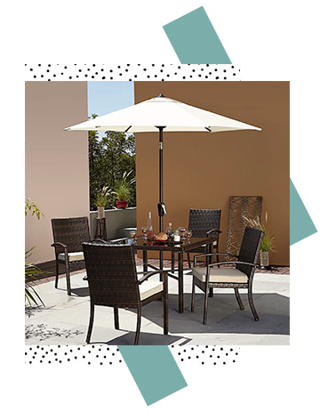 Dine, entertain and relax outdoors with this Jakarta 6 piece set