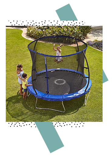 Keep children entertained and healthy with this fun trampoline