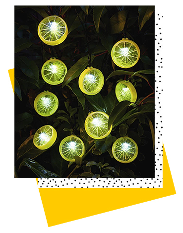 Garden parties just got a summer look with this 10 pack of lemon string lights