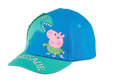Top off their outfit with this fun Peppa Pig cap