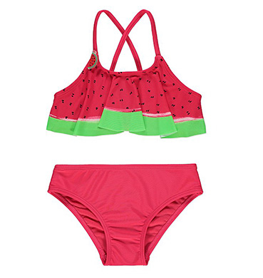 Brighten up pool days with this watermelon bikini