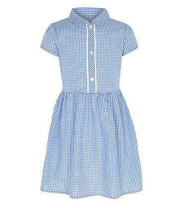 This blue gingham dress is the perfect pick for school