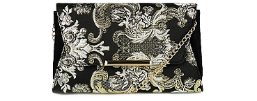 Beautifully detailed, this embroidered side bag is the perfect plus one