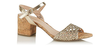 Step out in style with a pair of gold heels