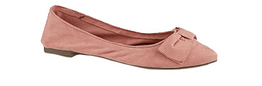 Opt for comfort and make these pink flats your go-to