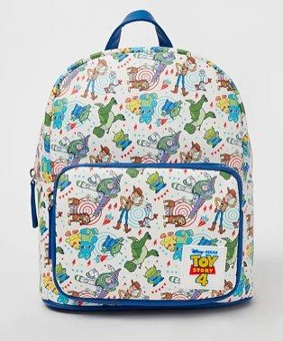Disney Pixar Toy Story 4 white printed rucksack.