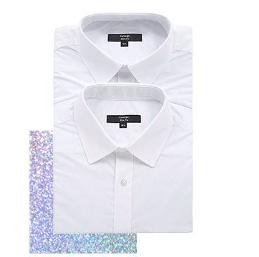 Opt for a classic white shirt