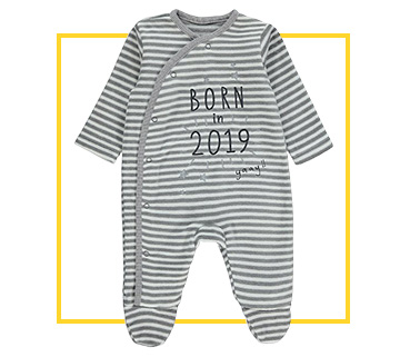 Keep baby snug and sound in a striped bodysuit