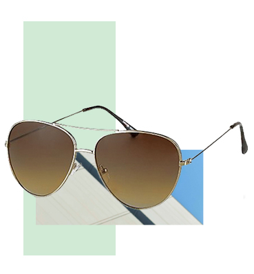Add a pair of stylish aviator sunglasses to his summer wardrobe