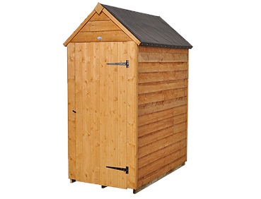Perfect for storage, this wooden garden shed comes with one door and a grey roof