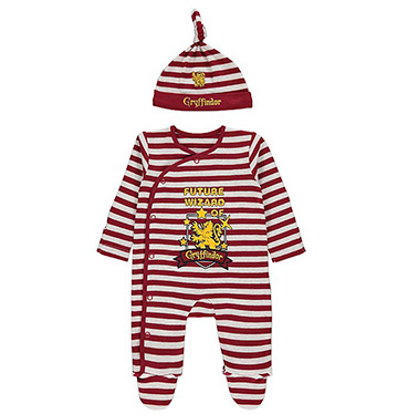 Your little wizard in training will have a dreamy night's sleep in this Harry Potter sleepsuit