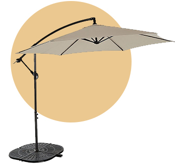 This 3M leanover parasol will keep you cool and comfortable during the hotter months