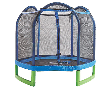 Coming with a net enclosure, this trampoline will keep them safe as well as entertained