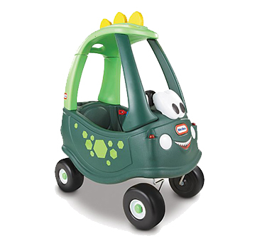 The fun dinosaur design on this car will let little imaginations run wild when they're driving off on an adventure