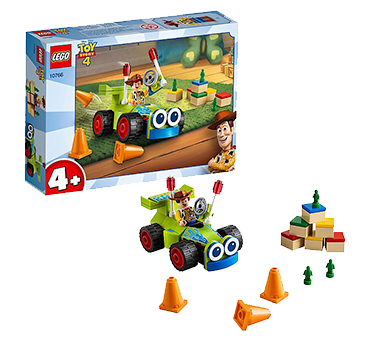 Race to the finish line with Woody and RC from Disney Pixar's Toy Story 4 with this LEGO set