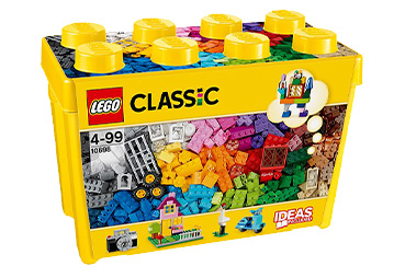 This LEGO Classic set includes a wide range of bricks in 33 different colors