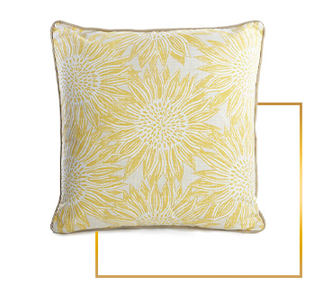 Freshen up your home décor with this sunflower cushion