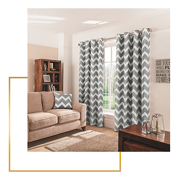 With their chic chevron design, these charcoal curtains are just the thing for adding some detail to any interior