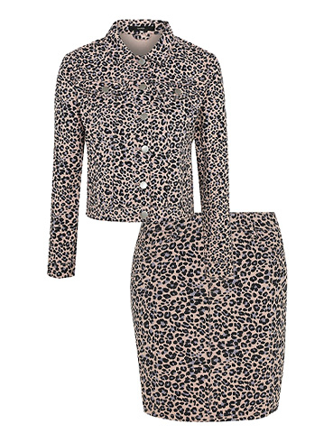Go wild for animal print in a leopard print co-ord