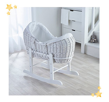 Create a cosy sleeping space for your little one with this Kinder Valley waffle wicker pod