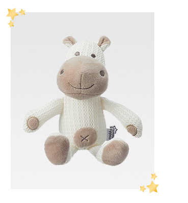 This soft and cuddly breathable toy makes a great snuggle buddy for your baby