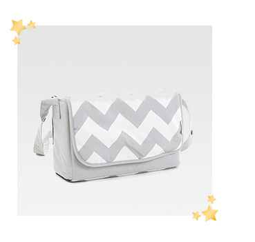 With plenty of room for nappies and wipes, this stylish changing bag is great for changing on the go
