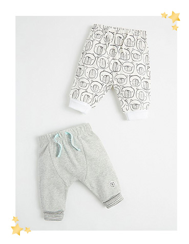 Keep them cosy in grey joggers