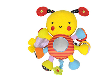 This soft and cuddly toy moves, vibrates and makes noises to keep them happy and stimulated