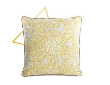 Freshen up your home décor with this yellow sunflower print cushion