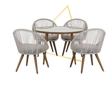Enjoy socialising and dining outdoors with this Nerja 5 piece garden dining set