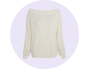 Stay warm and cosy with this knitted jumper