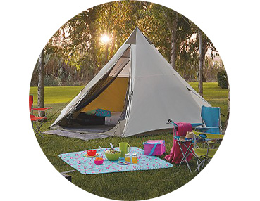 Get ready for sleeping under the stars with our camping range