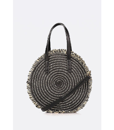 This circular crossbody bag is a real retro style saver