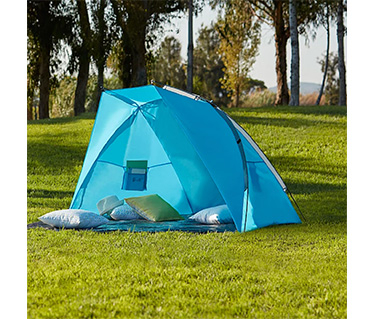 Adventuring? This blue tent is perfect for a night spent sleeping under the stars