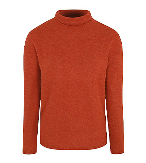 Layer up in this auburn turtleneck jumper