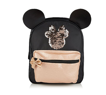 Created with 3D ears and a reversible sequin Minnie Mouse logo, this rucksack is perfect for school and beyond