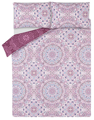 Designed with an unmistakable Paisley pattern, this purple duvet set is the perfect excuse to update your bedding