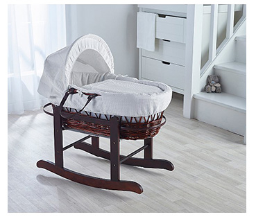 Keep baby safe and sound in a rocking Moses basket