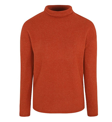 Burnt orange roll neck jumper