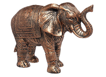 Bronze coloured elephant ornament