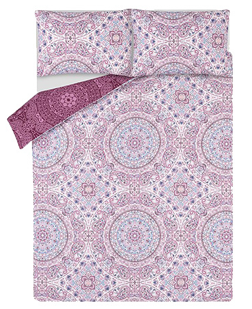 Purple Spirit Paisley Print Duvet Set
