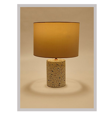 Neutral Terrazzo Effect Table Lamp