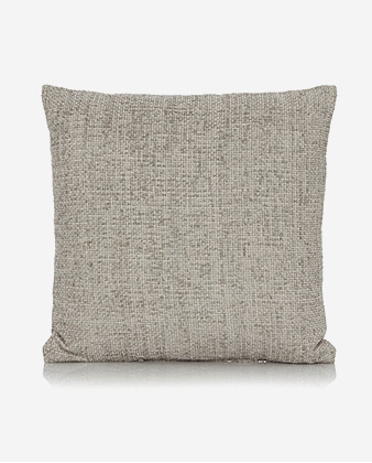 Product shot of grey textured cushion