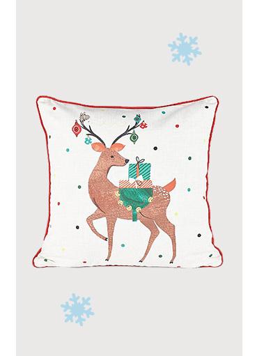 White reindeer cushion