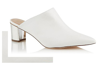 Slip on these mirrored heeled sandals and you've got carefree chic nailed down