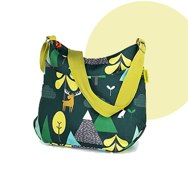 Green Cosatto into the wild changing bag