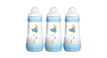 3 blue MAM easy start 260ml bottles