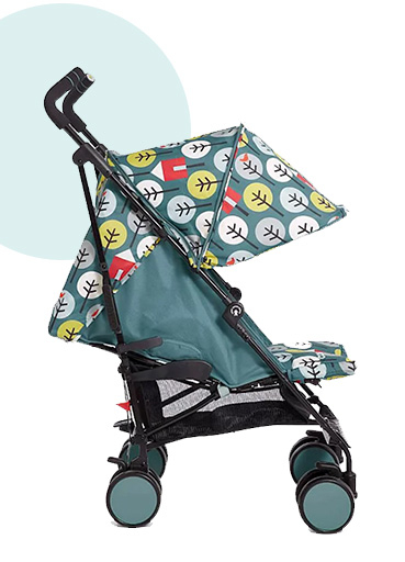 Green stroller