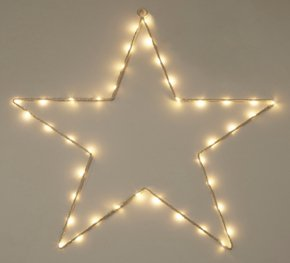 White star wire wall light.